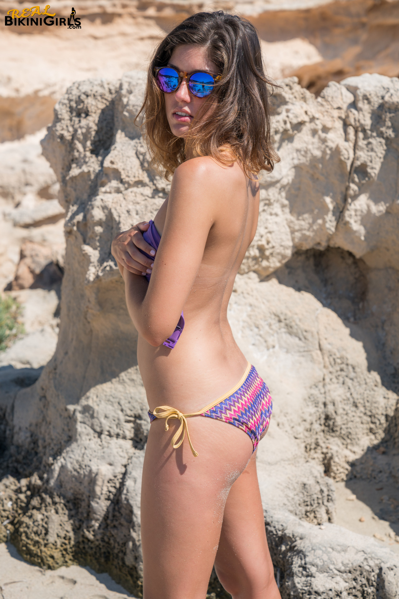 Purple Top Bikini - Real Bikini Girls-2967
