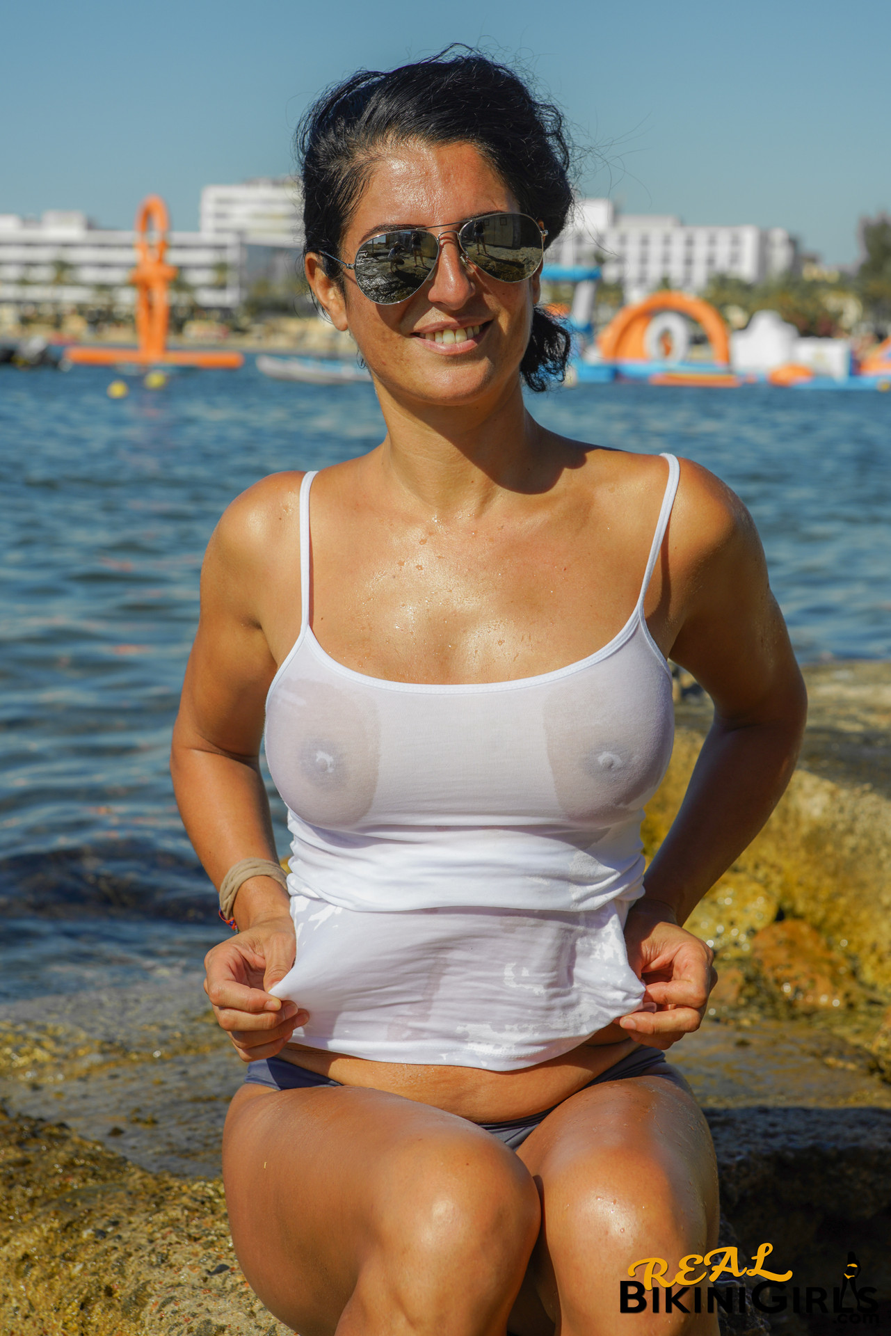 Answer Bikini babes hard nipples
